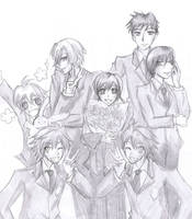 Ouran Highschool Host club by Hayato-kun