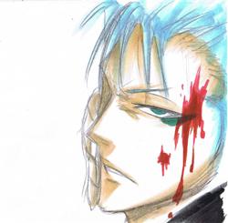 Grimmjow sketch by Hayato-kun