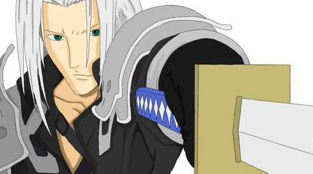 Coloured Sephiroth  Lineart  By NatsumeRaiko
