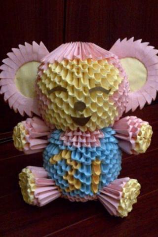 3D Origami Monkey By LuvYen101