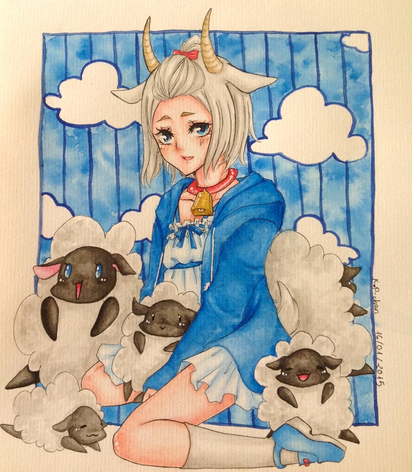 1st art of 2015 by KutePenguin