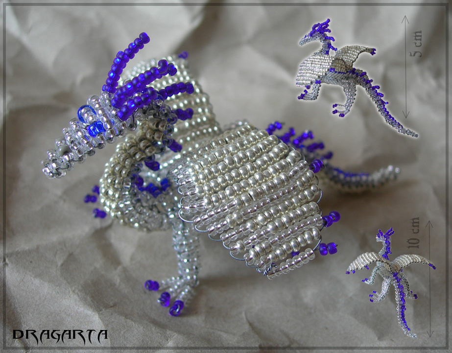 beaded crystal dragon by dragarta on deviantart