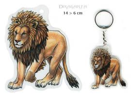 Lion keychain by Dragarta