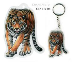 Tiger keychain by Dragarta