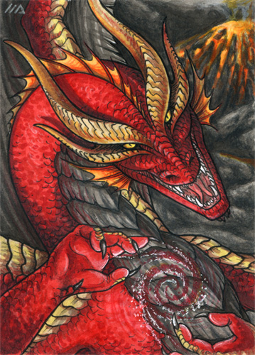 ACEO for RedFyreDragon by Dragarta