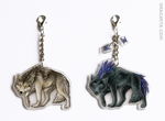 Keychains with wolfs