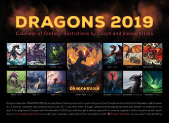Dragon calendar: DRAGONS 2019 by Dragarta