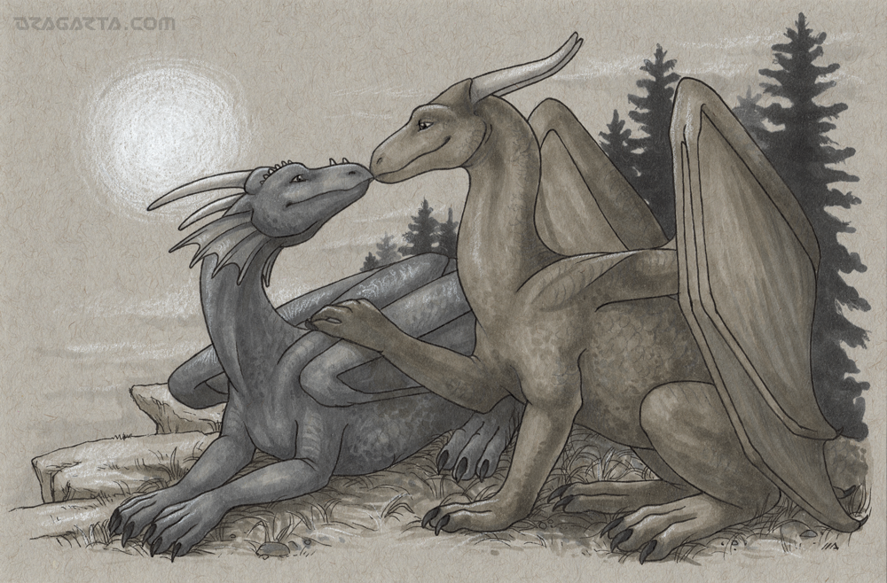 Dragon Calendar - Happy Couple by Dragarta