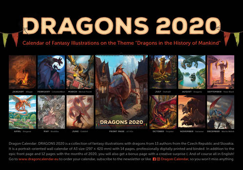 Dragon Calendar: DRAGONS 2020