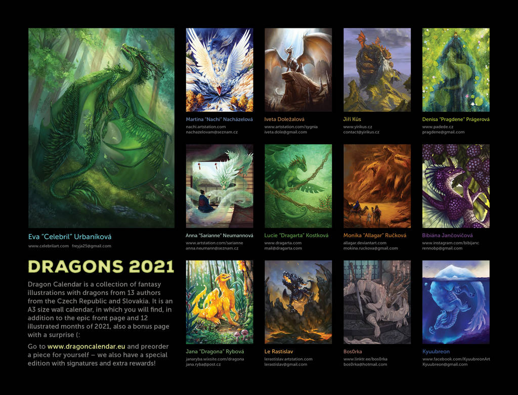 Dragon Calendar: DRAGONS 2021