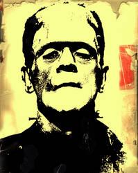 Boris Karloff Frankenstein by ZlayerOne