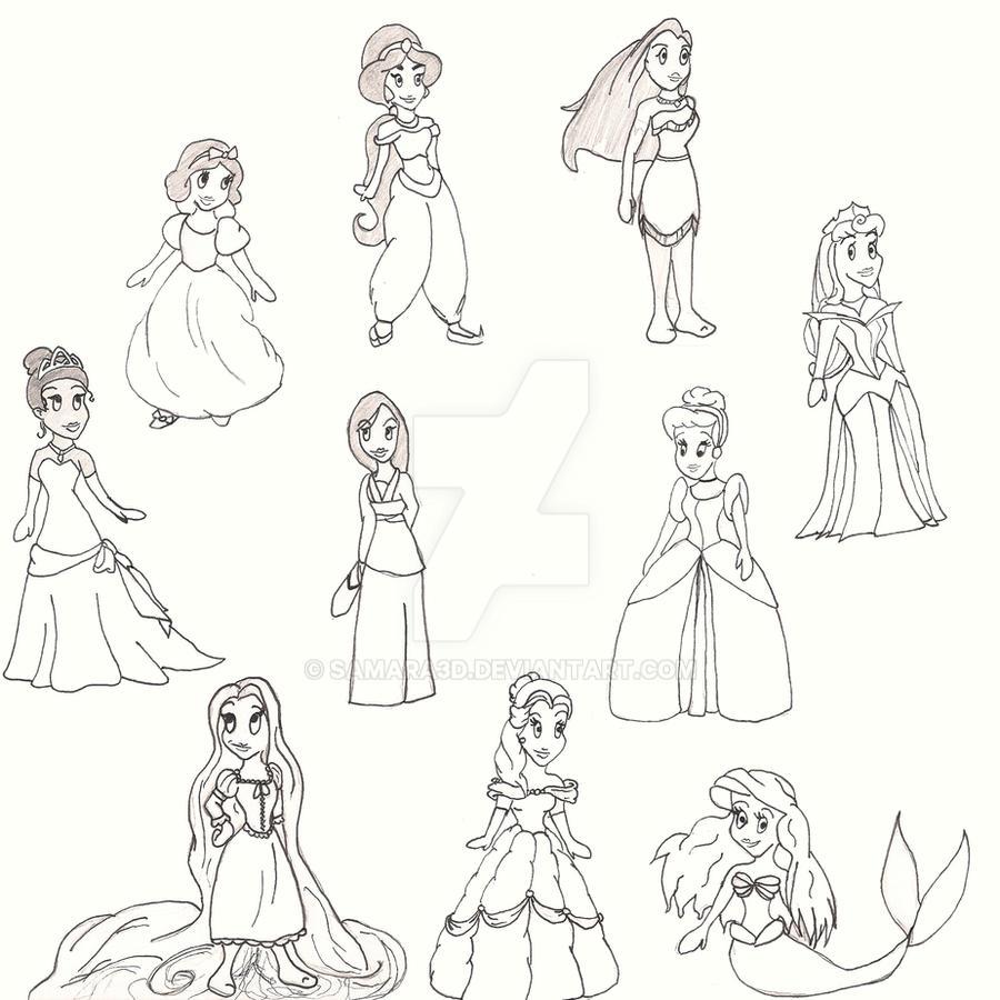 Disney Princesses by Samara3D