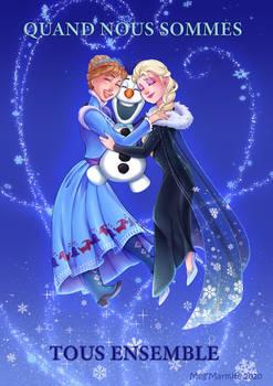 Merry Christmas Elsa Anna and Olaf