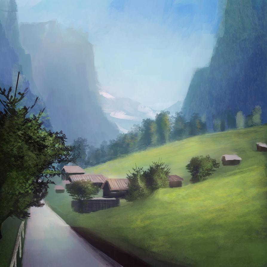 Study Landscape by JonathanDufresne