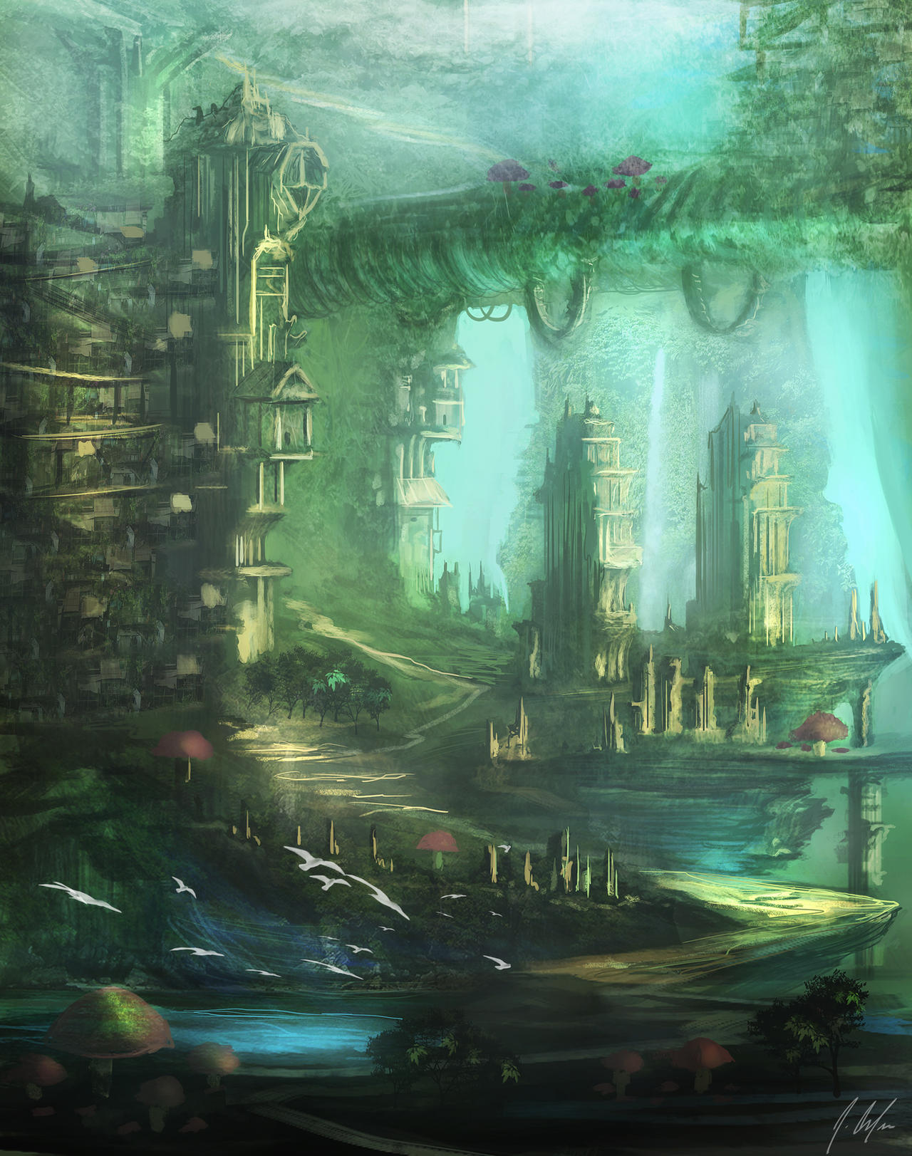 Mystic Landscape by JonathanDufresne