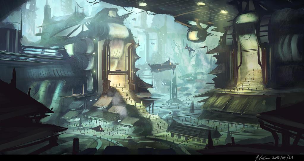 sci-fi concept by JonathanDufresne