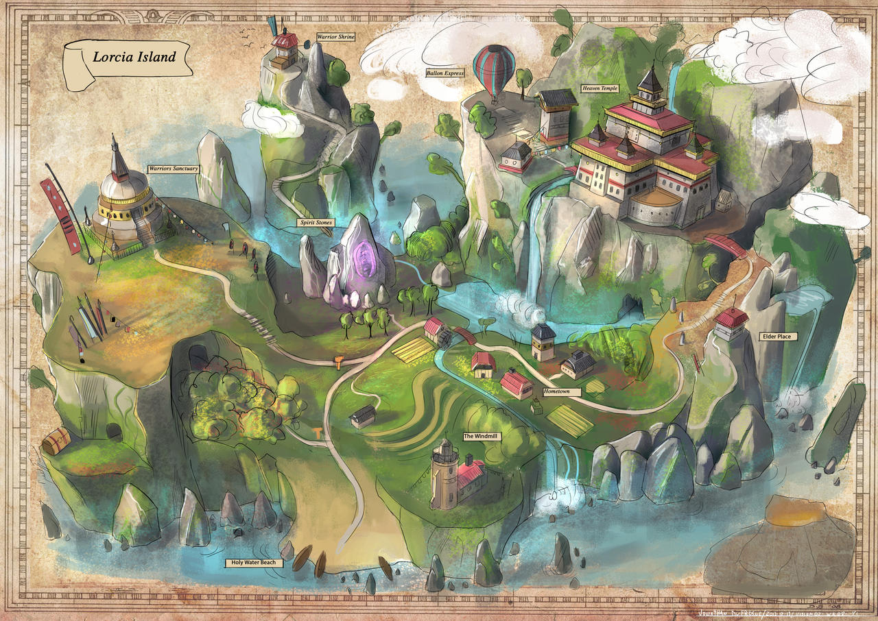 Game with watercolor - Game Map By Jonathandufresne Game Map By Jonathandufresne