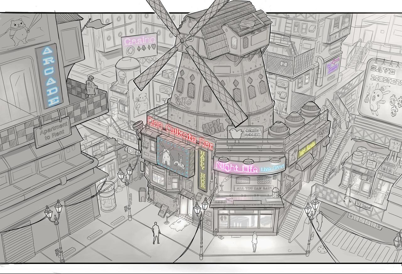 Cyberpunk bar by JonathanDufresne on DeviantArt