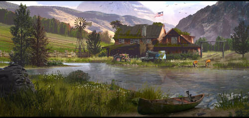 Destroyed Ranch by JonathanDufresne