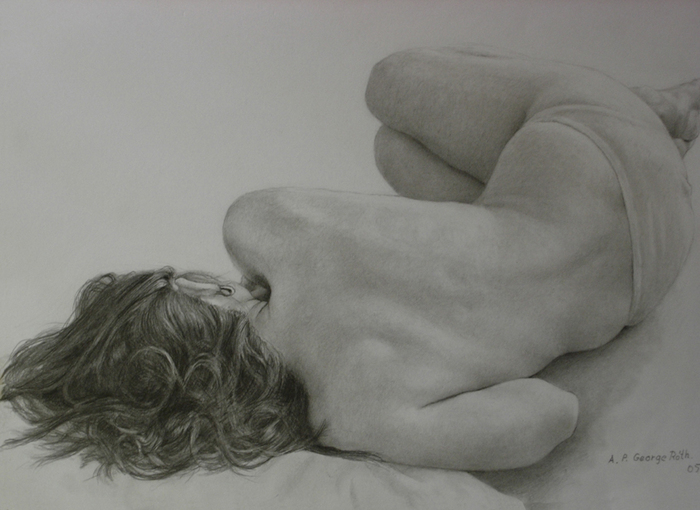 nude model I by george-roth