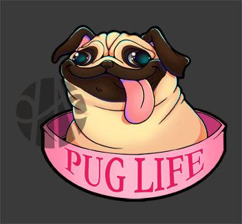 Pug Life by Giruvega