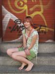 Anne barefoot in Berlin