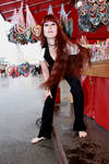 Sara auf dem Muenchner Oktoberfest