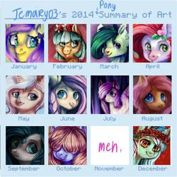 Summary of art meme 2014 (pony ver)