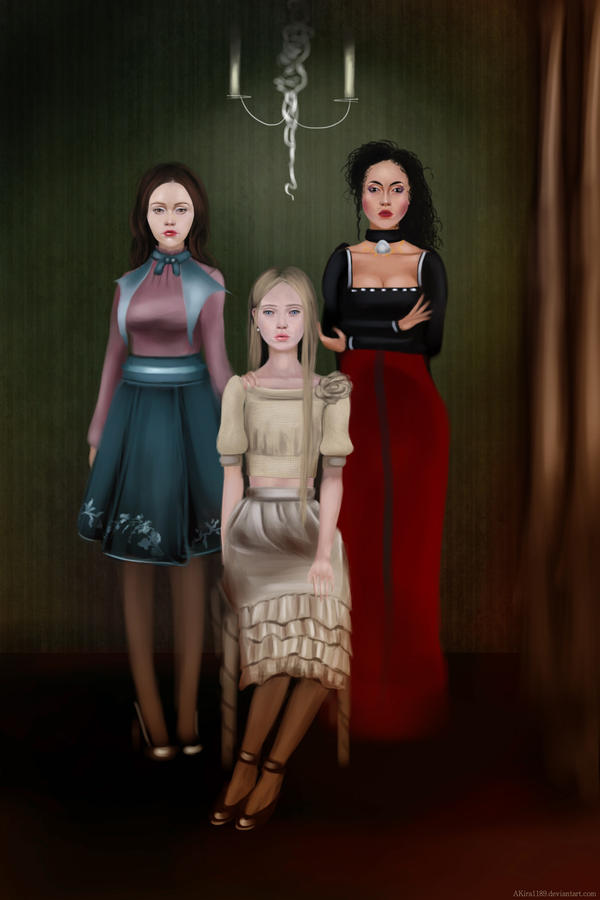 CM -Andy, Bella, and Cissy (The Black Sisters) by AKira1189