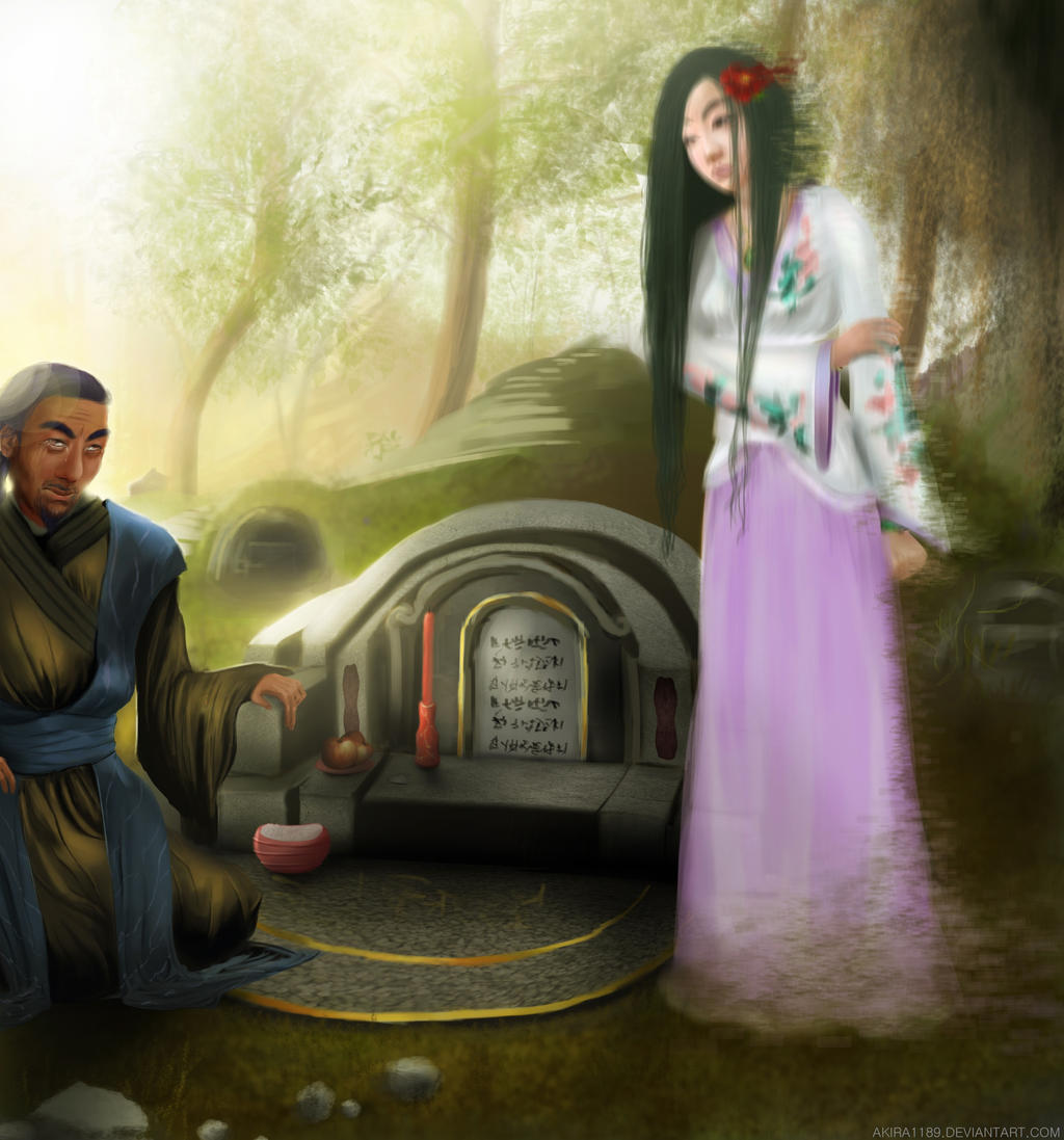 CM- Visiting the grave on the day of the festival by AKira1189
