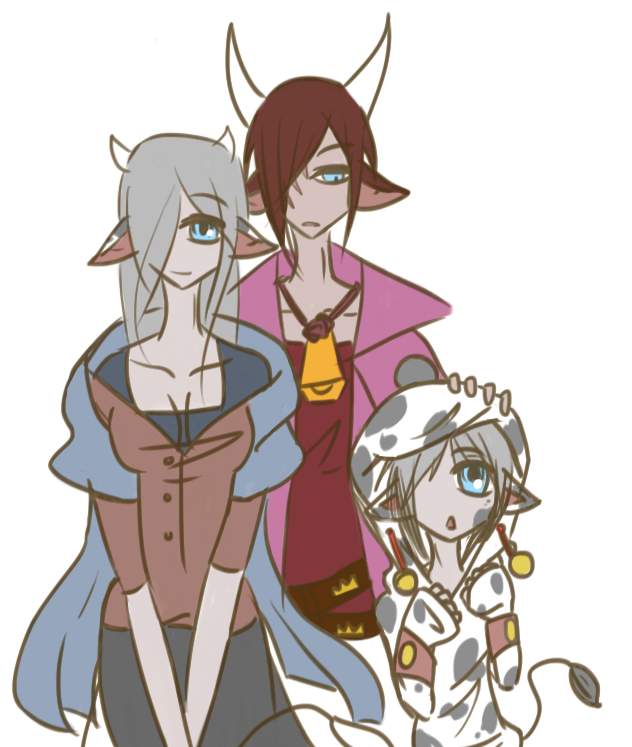 Cys's Family by atlas-rabbit