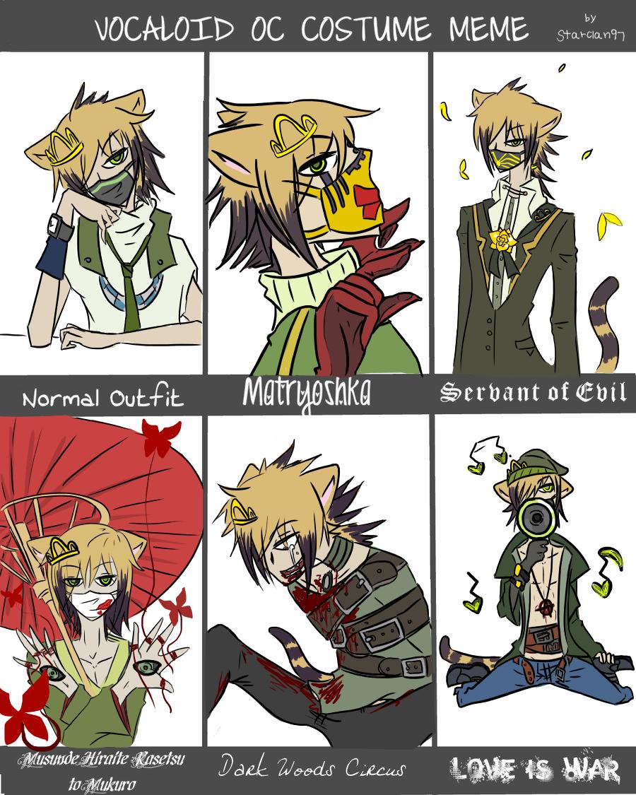 Vocaloid Costumes Meme [Roze] by OkayIlie