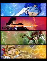 Sailor Moon: Inner Senshi by Flamestaff