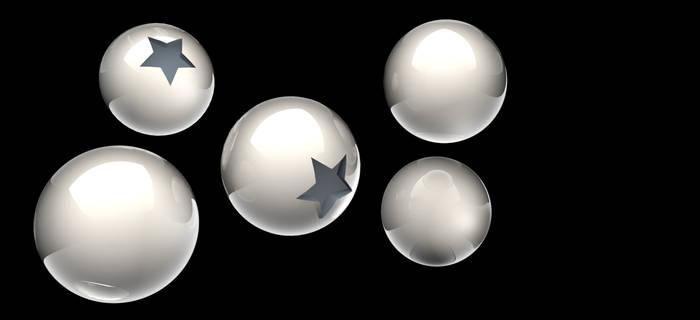Esferas blancas