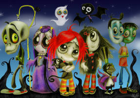 The Ruby Gloom characters by Niceforover