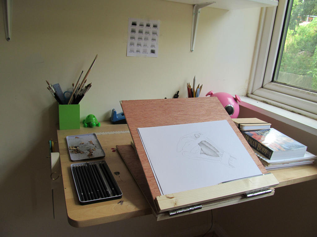 Diy Table Easel My Drawing Setup By Gertrudefood On