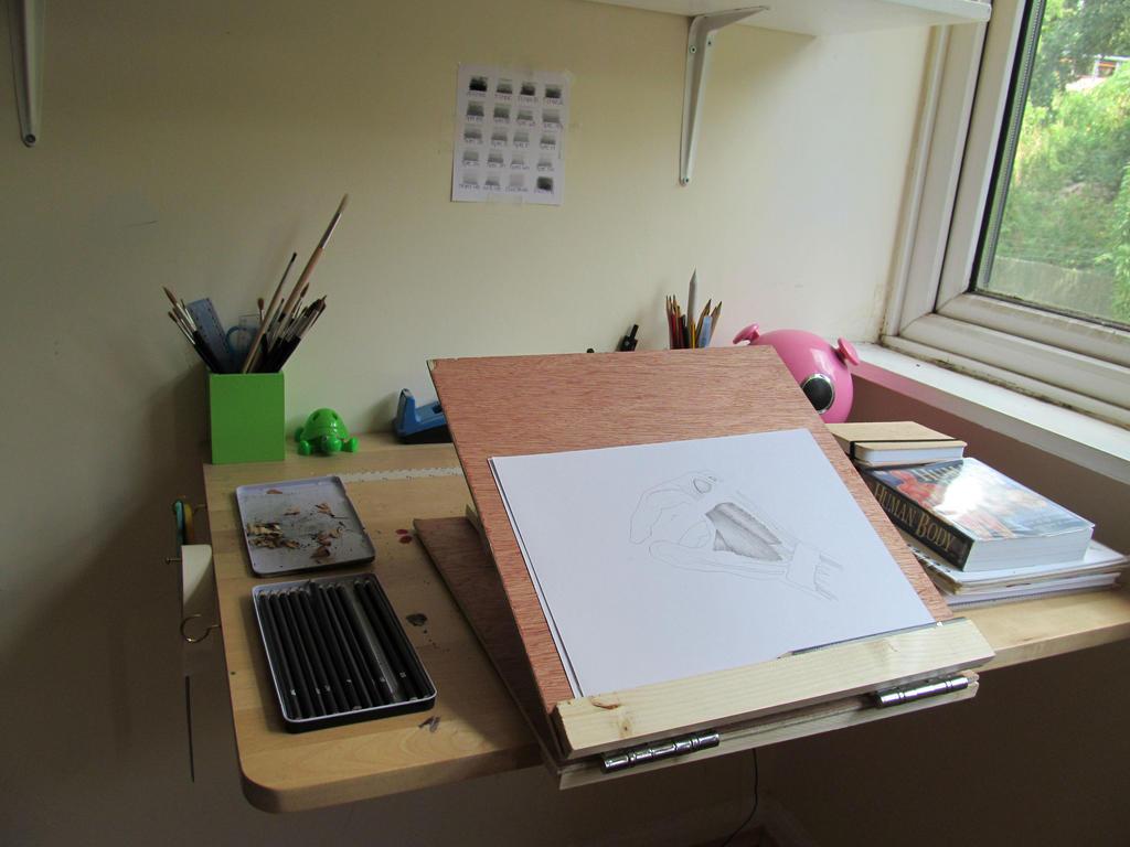 DIY Table Easel/ My Drawing Setup by GertrudeFood on DeviantArt