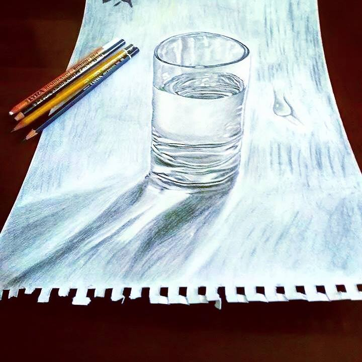 Glass of water by MISS-LIMA