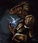 Skyrim: Argonian portrait