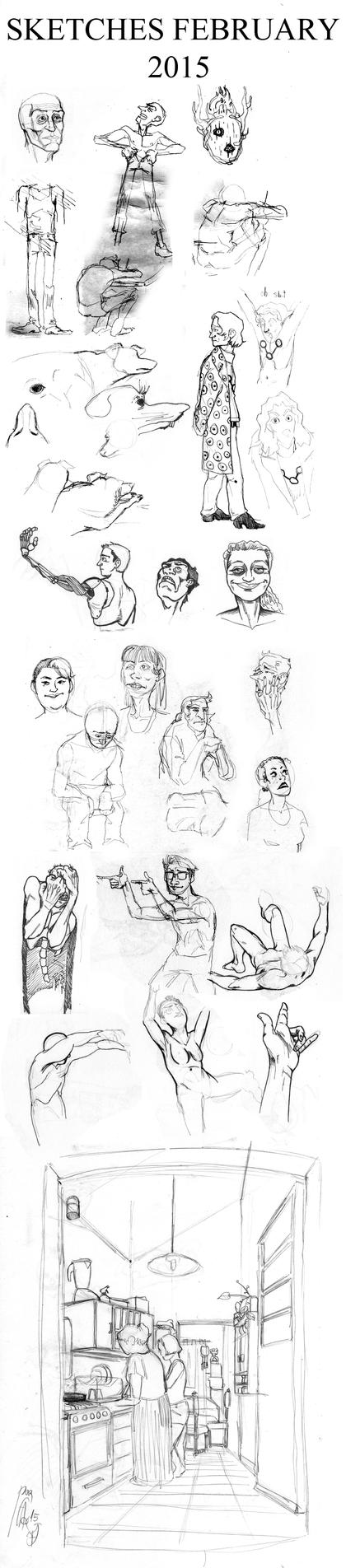 sketches february 2015 by faqundo