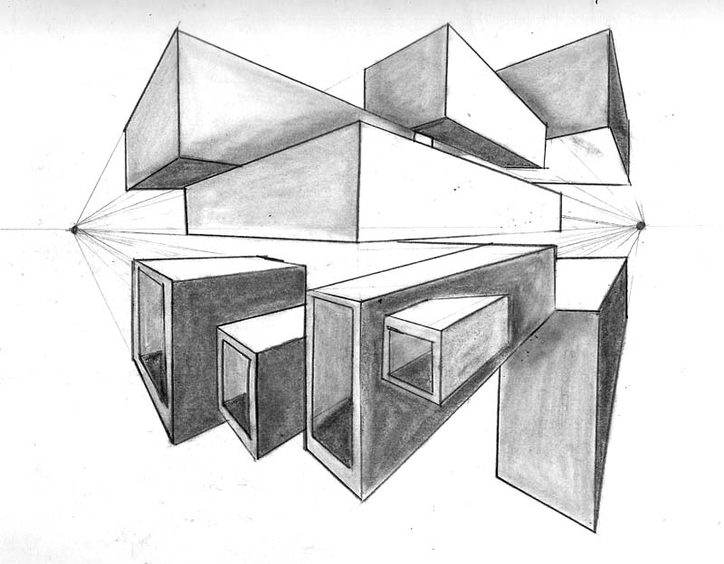 Perspective Classthe Boxes By Wiccan angel666 On DeviantArt