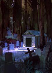Forest Graveyard Card 1 by SandroRybak