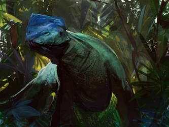 Forest Lizard by SandroRybak