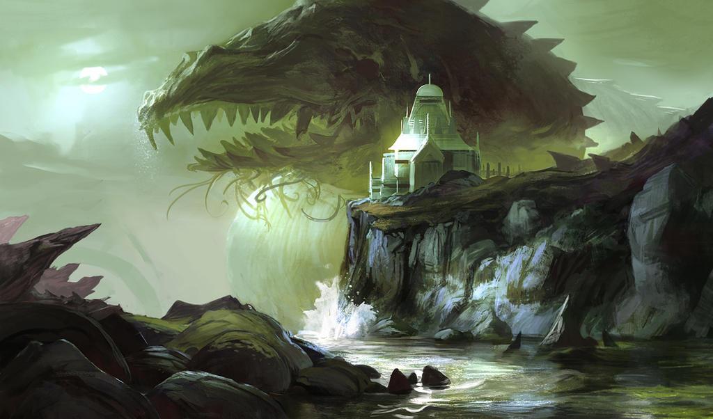 Isgar, occult temple by SandroRybak