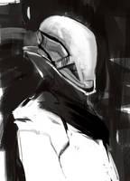 Dude with helmet by SandroRybak