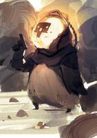 Black Skull spitpainting by SandroRybak
