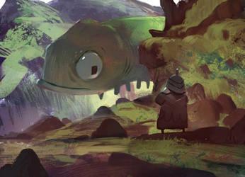 Floating giant thing by SandroRybak