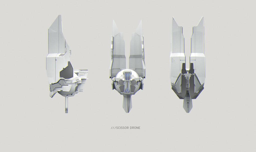 Scissor Surveillance Drone by SandroRybak