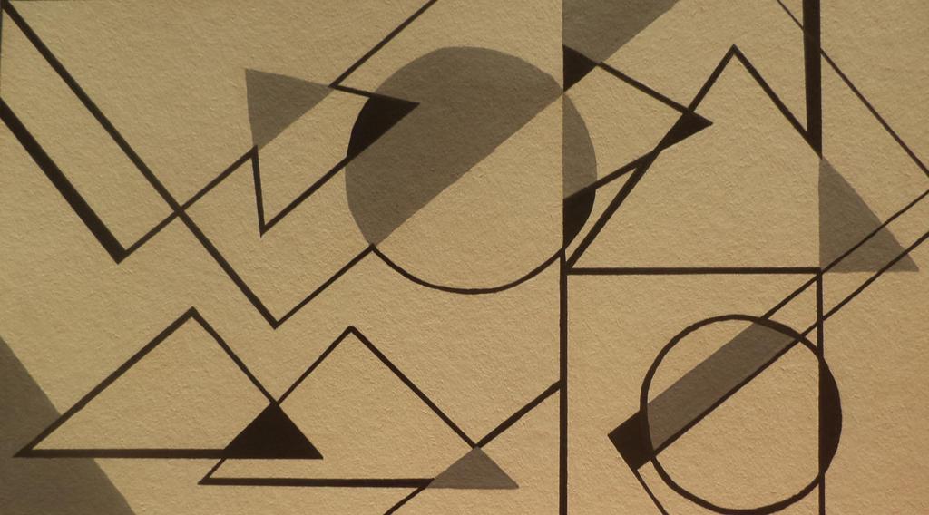 Composicion de figuras geometricas y lineas by laal on for Cuadros con formas geometricas
