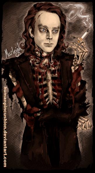 Brad Dourif/Martin Klamski/skeleton by HumanPinCushion